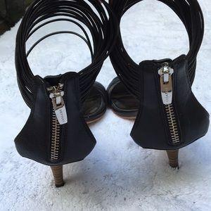 a24ab5ac42d Coach Shoes - Coach Manya black leather strappy kitten heels 7